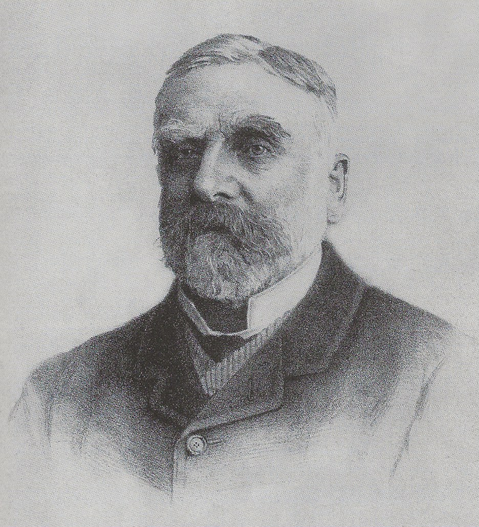 Black-and-white picture of bearded man