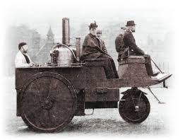 Three-wheeled steam carriage