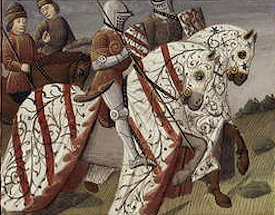 Two mounted knights in armour