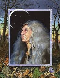 Long-haired old woman
