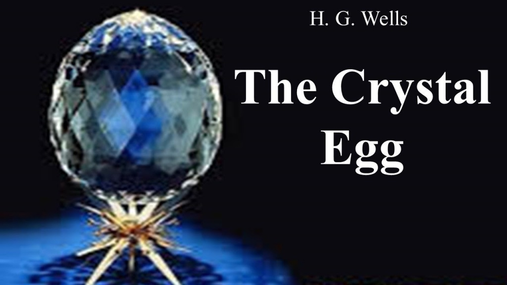 Crystal egg on a golden stand