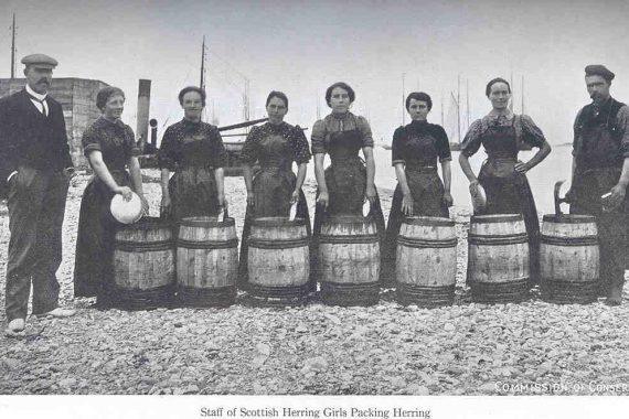 Women standing in line